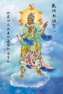 四大天王部落鬼神名字 佛教菩萨