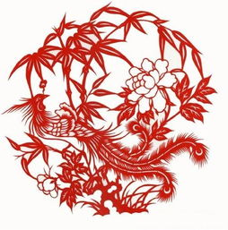 着喜庆与幸福.现代剪纸图案中,凤凰的剪纸图案常常出现于婚庆剪纸...