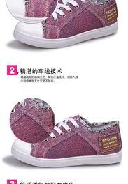 ...胶底韩版低帮帆布鞋女 系带夏季透气 学生女平底鞋特价