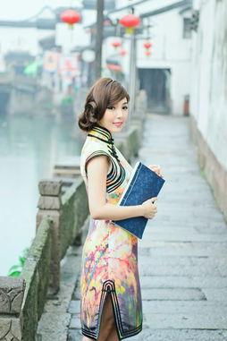江南雨巷 台湾模特朱琦郁