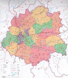 北京市行政区划图 北京地图制作 遥感影像数据处理