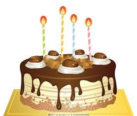 蜡烛蛋糕素材