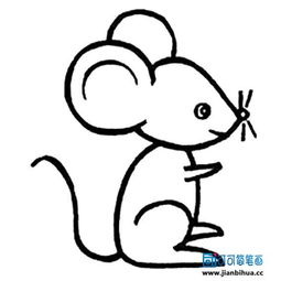 猫和老鼠中的小老鼠怎么画?如何画生肖鼠简笔画