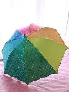 黑色彩虹伞
