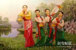 难得一见的朝鲜淳朴美术作品