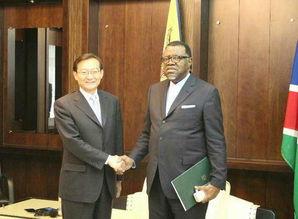 外交部副部长张明访问纳米比亚