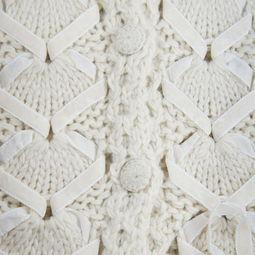 ... MASS 白色带毛连帽编织长马甲T5179 价格 报价 图片 正品 品牌