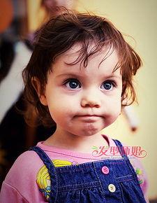 短发造型 短发烫发 小女孩