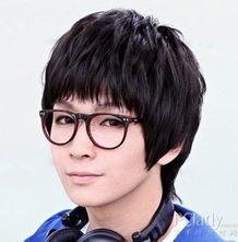 韩式男生发型 可爱圆形刘海
