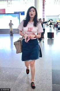 蒋欣现身机场秀美腿 瘦身30斤上围未缩水 图