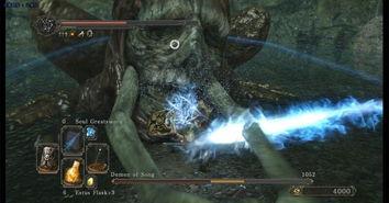 仪梦徊剑传-第二把古龙大剑   双手丢出羽毛样子的冲击波多段攻击,全中秒杀不是...