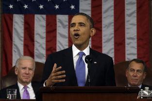 美利坚合众国欧美色图-图∶美国总统奥巴马在国会发表2013年的国情咨文演说,后排左为副...