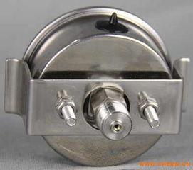 轴向U型卡子耐震不锈钢压力表型号规格,量程,精度