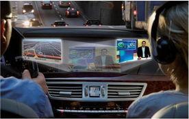 ...通过在同一屏幕发射两个视频信号,同时根据驾驶者与乘客的角度...