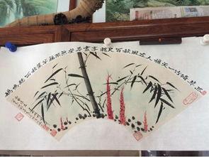 用水彩颜料在宣纸上画出竹子的各种姿态后,附上自己创作的小诗或文...