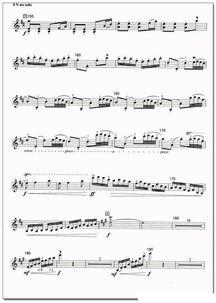 小提琴梁祝独奏五线谱