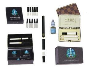 中华蓝天电子烟304D 一支半装送礼品铁盒