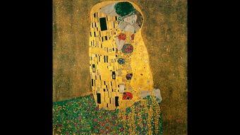 """...》是奥地利画家古斯塔夫・克林姆创作的颠峰时期C""""金色时期""""最著..."""