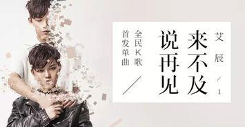 全民K歌歌手艾辰 来不及说再见 爆火K歌平台