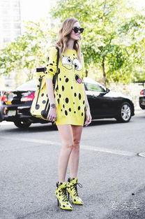 婷婷桃色网-时尚博主穿黄色毛衣裙-刘诗诗高圆圆都爱的黄毛衣你入了吗