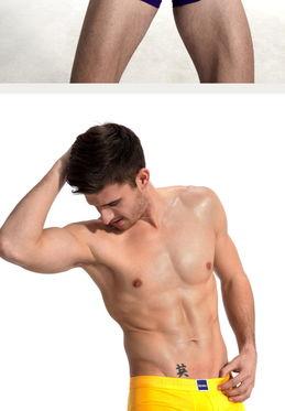 瑞丝贝 男士纯棉平角内裤 加宽裆 透气无痕性感内裤 丝滑亲肤
