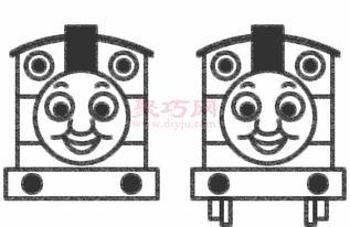 托马斯小火车的画法步骤 怎么画托马斯简笔画