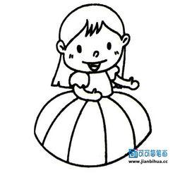 简笔画卡通人物女孩,卡通人物简笔画图片大全,可爱的小女孩卡通...