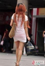 妹子你穿个透明的白裙子 就别穿碎花红裤衩 图
