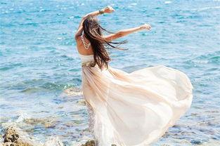 海边女生背影图片 孤独的女生背影