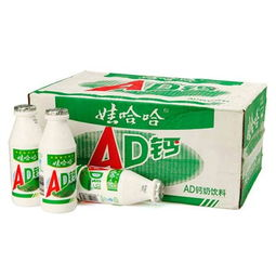 娃哈哈 AD钙奶 220g 24瓶 价格 图