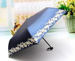 台湾彩虹屋三折遮阳伞 超强防紫外线 珠光胶防晒伞晴雨伞 太阳伞