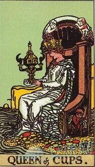 ...牌解释,塔罗牌圣杯牌圣杯皇后解释大全
