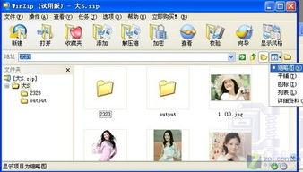 图2 图片缩略图预览-无须对文件解压 WinZIP可直接预览图片