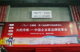 红蜻蜓 第六届品牌中国高峰论坛在国家体育馆举行