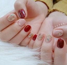 红色系美甲图片 显温柔更显时尚感-美甲图片款式,好看的美甲图片...
