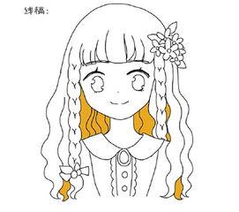 水彩知识之可爱小女孩的绘画过程