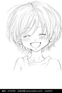 哈哈大笑的卡通女孩图片免费下载 编号3732300 红动网