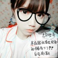 戴眼镜可爱女生头像