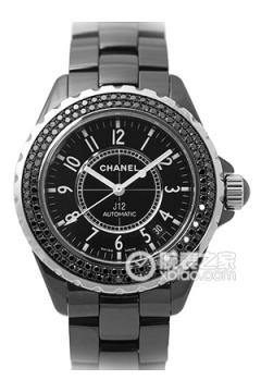最贵香奈儿镶钻表壳黑色圆形表盘男士机械手表 世界最贵CHANEL镶...