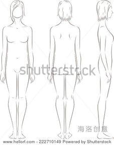 女性身材曲线简笔画