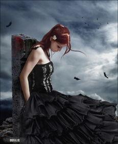 ...个性图片 黑色堕落天空