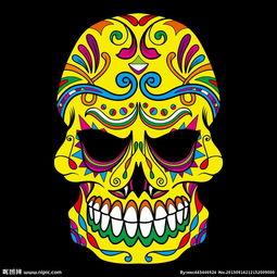 骷髅印第安人图片设计