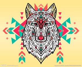 白绫恨彩色插图本-超巨大异域民族风白狼图腾图片