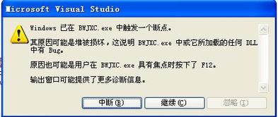 ...ows窗体应用程序调试出错, Windows 已在 xxx.exe 中触发一个断点