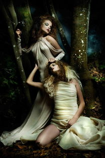 神秘森林里的梦幻妖精精灵