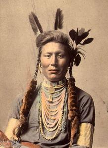 北美印第安人彩色的尘封影像