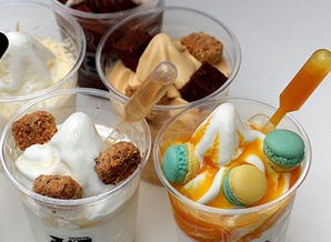 淇淋与众不同的味道吧.上层是灰色的棉花糖,带着神奇的口感还有薄...