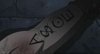 ...子海贼团标志 艾斯手臂纹身