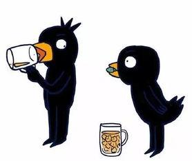 毁童年脑洞漫画 乌鸦喝水