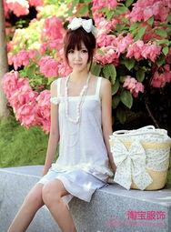 艹白妞-吊带连衣裙,下摆雪纺,纯棉设计,即使不在家里,也需要在家里的随...